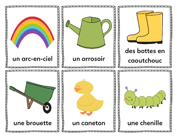 Mes mots pour le printemps (My Words for Spring) - French Vocabulary Cards