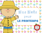 Mes mots pour le printemps (My Words for Spring) - French