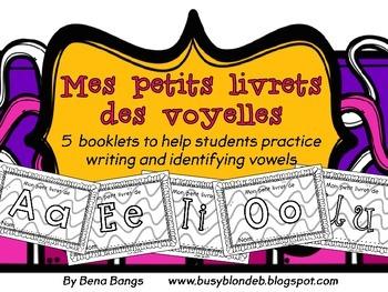 {Mes petits livrets des voyelles!} 5 vowel booklets in French