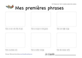 Mes premieres phrases (My First Sentences) - Reading comprehension