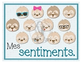 Mes sentiments - French 12 Poster Set - Color - Silly Slot