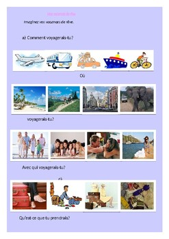 Mes vacances de rêves  / My dream vacation / My ideal vacation