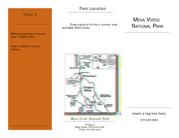 Mesa Verde / Anasazi Brochure Project