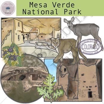 Mesa Verde National Park Clip Art Set