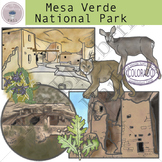 Mesa Verde National Park Clip Art Set
