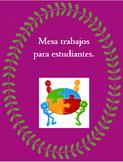 Mesa Trabajos - Cooperative Group Table Jobs - Classroom Management