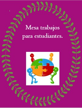 Mesa Trabajos - Cooperative Group Table Jobs - Classroom M