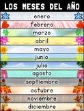 Meses del Año (Months of the Year) Poster – Spanish