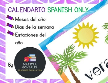 Calendario- Meses del año, días de la semana y estaciones (Spanish only)