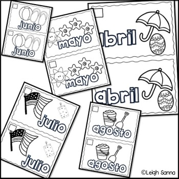 Meses del año (Months of the Year book in Spanish)
