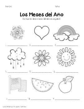 Spanish Months & Seasons!