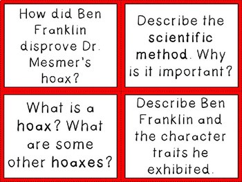 Mesmerized: How Ben Franklin Solved a Problem... Discussion Question Cards