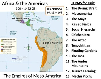 Meso-American Civilizations LESSON BUNDLE: Maya, Aztec, & Inca by R ...