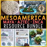 Mesoamerica Activities Bundle   Mayan Inca Aztec Mesoamerica Civilizations