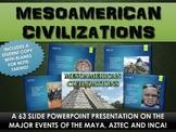 Mesoamerica Civilizations PowerPoint - Maya, Aztec, Inca (63 Slides!)