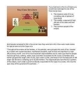 Inca, Maya, and Aztec Civilizations unit - worksheets, activities, crq, exam