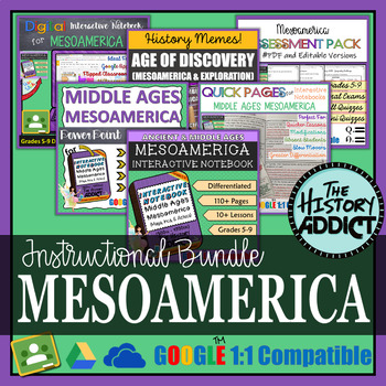 Mesoamerica Interactive Notebook Instructional Bundle (Maya, Inca, Aztec)