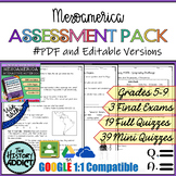 Mesoamerica (Maya, Aztec, & Inca) Assessment Pack – Tests
