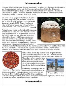 Native Americans: Mesoamerica (Maya, Olmec, Toltec) before Columbus