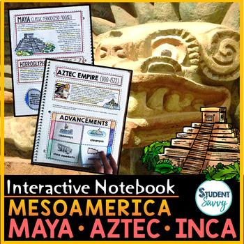 Mesoamerica Distance Learning : Olmec - Maya - Aztec - Inca Interactive Notebook