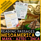 Mesoamerica Reading Comprehension Passages - Questions - Annotations