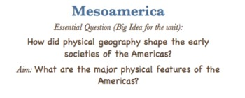 Mesoamerica: South American Geography