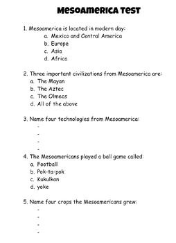 Mesoamerica Test