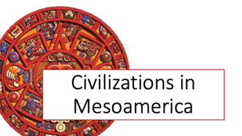 Mesoamerican Civilizations Powerpoint and Notes