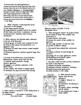 Mesoamerican Civilizations Review Sheet