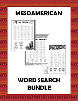 Mesoamerican Civilizations Word Search Bundle