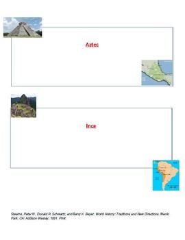 Mesoamerican Empires- Olmec, Maya, Toltec, Aztec, Inca Empires worksheet w/ Key