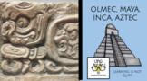 Mesoamerican Notes Set: Olmec, Maya, Aztec, Inca