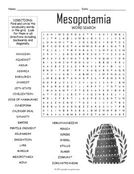Ancient Mesopotamia Word Search