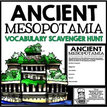 Ancient Mesopotamia Unit Vocabulary Scavenger Hunt Activity
