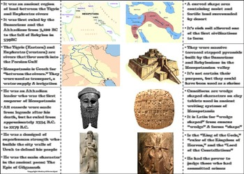 Ancient Mesopotamia Activity (The Fertile Crescent Interactive Notebook)