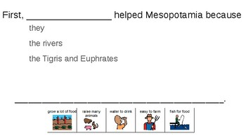 Mesopotamia: Agriculture Writing Activity