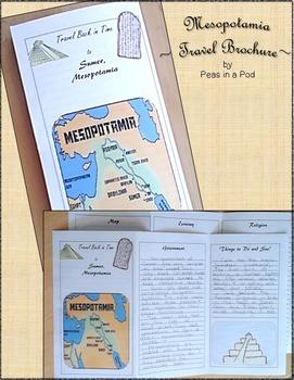 Mesopotamia Ancient Civilizations Travel Brochure & Important Book 6th Grade