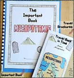 Mesopotamia Ancient Civilizations Travel Brochure & Important Book 6th Grade