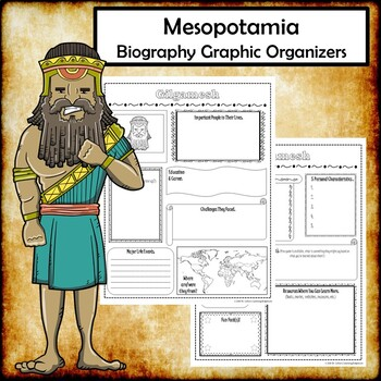 Mesopotamia Biography Research Graphic Organizers Bundle