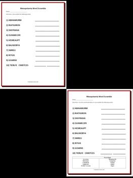 Mesopotamia Bundle - 30 Task Cards & 1 Word Scramble