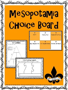 Mesopotamia Choice Board and Activity Pack