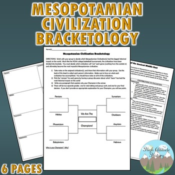 Mesopotamia Civilizations Bracketology Creative Writing Assignment