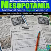 Mesopotamia Differentiated Reading Passages (Digital & Pri