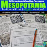 Mesopotamia Differentiated Reading Passages (Digital & Pri