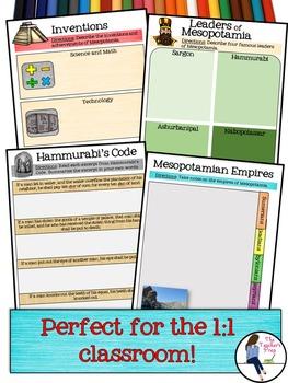 Mesopotamia Digital Interactive Notebook for Google Drive