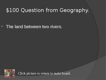 Mesopotamia Early Civilizations Jeopardy Review