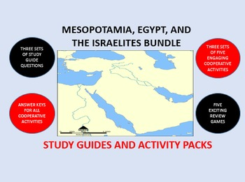 Mesopotamia, Egypt, and the Israelites Bundle: Study Guide/Activity Packs