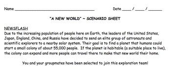 Mesopotamia / Fertile Crescent Scenario Sheet