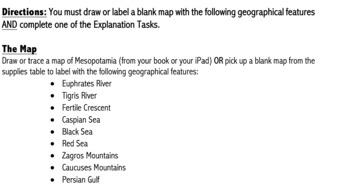Mesopotamia G.R.A.P.E.S Tasks