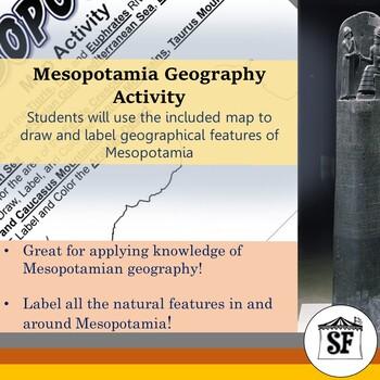 Mesopotamia-Geography Labeling Activity